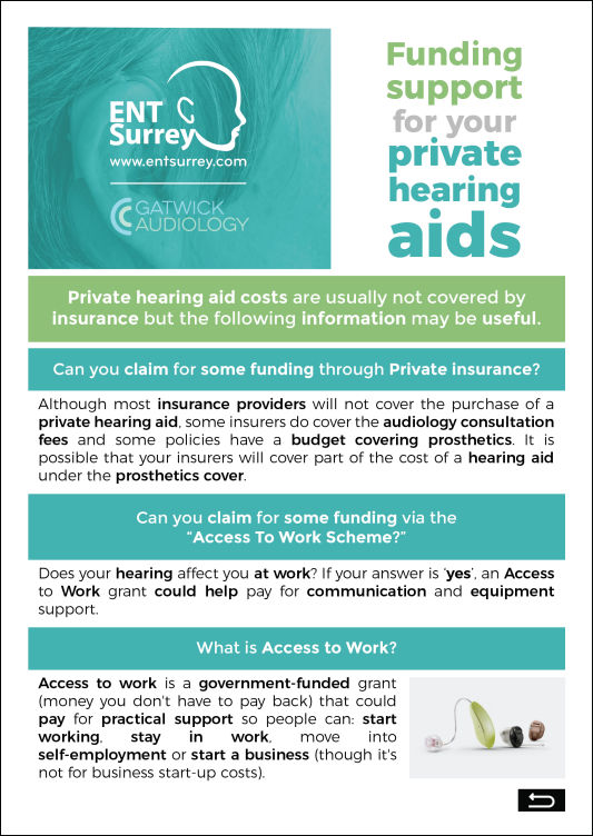 Funding Support for Private Hearing Aids