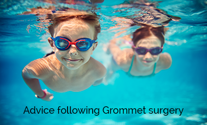 Advice following grommet surgery